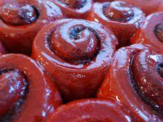 Bleeding Red Velvet Cinnamon Rolls (from The Walking Dead)