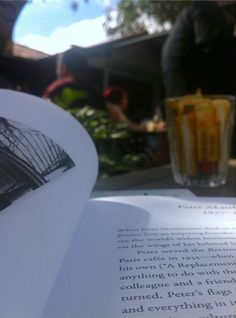 Enjoying the summer issue of The Paris Review in the winter sun. #ReadEverywhere