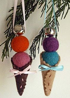 Good idea for a Christmas ornament for my class! Might try just with cotton balls.