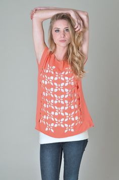 Cut out pattern t-shirt. So delicate and so gorgeous! #cutuptees