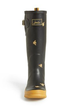Bee print!  I want!  Joules 'Wellyprint' Rain Boot (Women) | Nordstrom