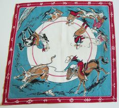 Vintage Cowboy Hankie - love the print, wish I could find the fabric!