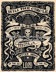 Will The Circle Be Unbroken Bluegrass Gospel Poster. $14.95 by Victorian Lowbrow