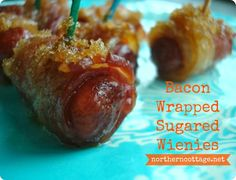 wrap cocktail, bacon wrapped, appet, sugar cocktail, cocktail wiener