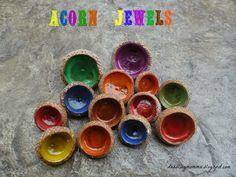 Dabblingmomma: Acorn Cap Jewels