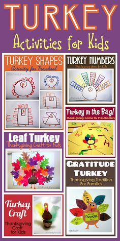 Turkey activities for kids.