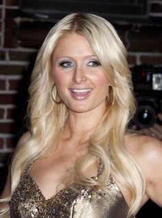 Paris Hiltons platinum blonde hairstyle