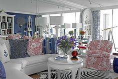 Living Space by Carleton Varney featuring Kindel Furniture from the Dorothy Draper Collection