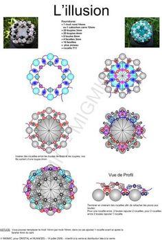 Rivoli de 12 mm o cabuchón cuadrado de  12 mm perl, jewelleri, bead ring, bead patterns, beaded rings, anillo, illus bead, bead tutori, jewelri