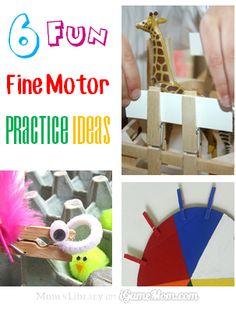 6 Fun Fine Motor Skill Practice Ideas #LearnActivities