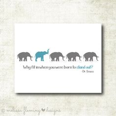 Why fit in when you were born to stand out by MelissaFlemingDesign, $5.00