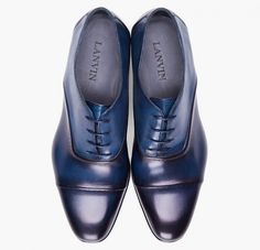 Lanvin Toesade Navy Dress Shoe