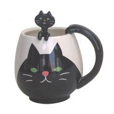 Fun Cat Mug & Spoon Set