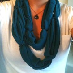 Scarf I made from an old tank top.