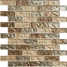 stone mosaic tile mohawk phase mosaics stone and glass wall 3 x 1 tile