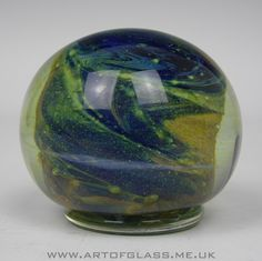 Isle of Wight Studio Glass pedestal paperweight by Michael Harris