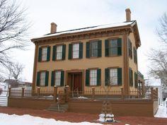 Abraham Lincoln's home, Springfield IL lincoln assassin, abraham lincoln, abe, springfield illinoi, maps, mari lincoln, travel, homes, place