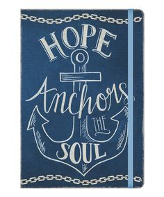 'Hope Anchors the Soul' Compact Deconstructed Journal