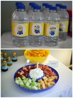 Water bottle label idea The Musings of an Intentional Mommy: awesome despicable me birthday party