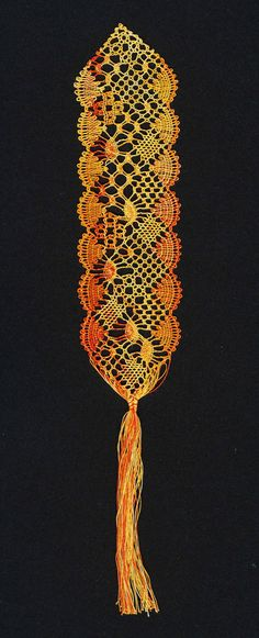 Pattern for Design It Yourself (DIY) bobbin lace bookmark