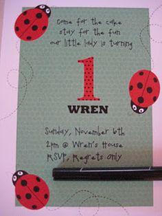 Ladybug Birthday Party Invite