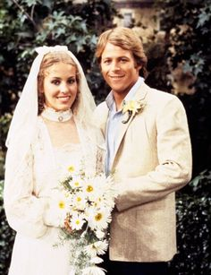Laura and Scotty!! At their perfect wedding in the park.    Genie Francis & Kin Shriner  General Hospital