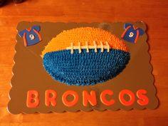 Denver Broncos Birthday Cake denver broncos cakes, denver broncos birthday, birthday cakes