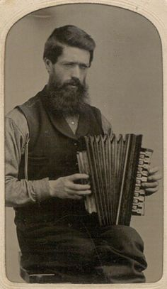 Occupational image. Musician with accordian.
