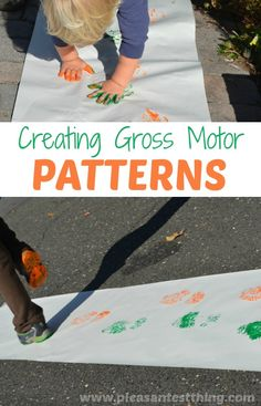 Get moving and explore patterns using gross motor activities and paint