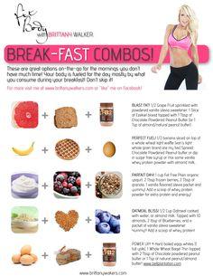 Break-FAST Combos! Healthy Fit ways to eat breakfast FAST!