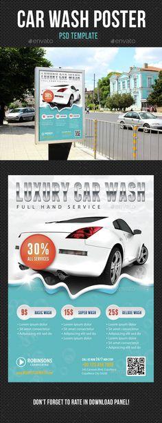 Car Wash Flyer Template Solarfm