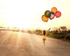 sunshine, balloons