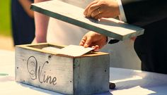 The idea of this ceremony is the day before your wedding,both of you write a love letter to each other and seal it....don't let the other read it.    During the ceremony you place a bottle of wine and the two love letters inside the box and seal it shut with a hammer and nails.(We predrill the holes in our boxes for you).  You set a date to open it on your anniversary such as one year,five years,ten years,etc.....and then you open it on the date,have wine glasses ready and open the wine & enjoy.