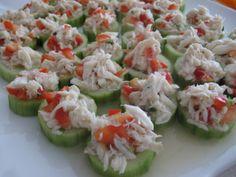 Crab Salad in Cucumber Cups
