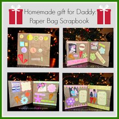 Paper Bag Scrapbook - cute Christmas gift idea for kids to make.