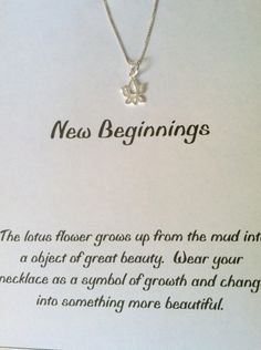 Sterling Silver Lotus Blossom Necklace, Good Luck Charm, Yoga, Best Friend, New Beginings