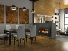 Regency Horizon HZ42ST see-through gas fireplace by Regency Fireplaces.