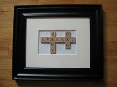 Father's Day scrabble craft.