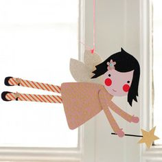 craft, fairi parti, fairi cutout, fairies, de papel, lollipop fairi, artist, kid room, diy