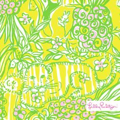 Lilly Pulitzer Spring '14- Crazy Cat House Print