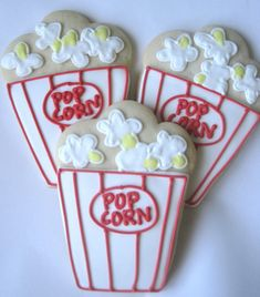 Popcorn Box cookies, movie night cookies