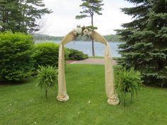 Burlap & Lace Wedding Arch