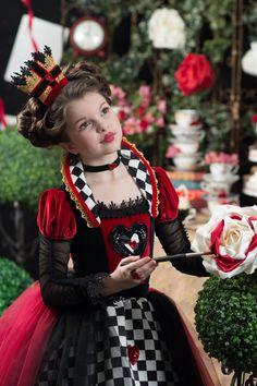 Queen of Hearts Costume Tim Burton Disney Inspired Alice in Wonderland Dress by Ella Dynae, $210.00 #crown #valentine #tea #party