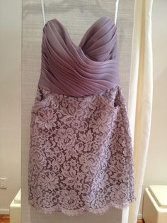 pretty bridesmaid dress...  lace & pockets. I have something a little more flowy and simple in mind but I love the lace!