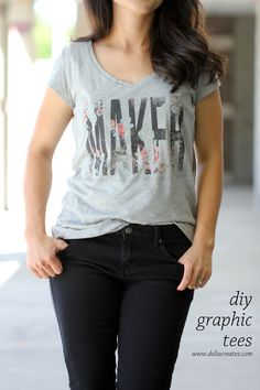 DIY Graphic Tees With Free Printable