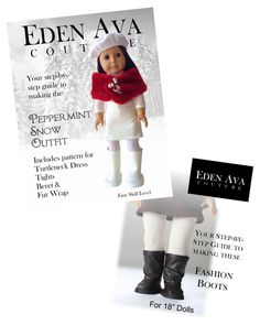 Eden Ava Couture Peppermint Snow & Fashion Boots Bundle!  Buy both and save! fashion boot, american girl