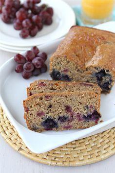 Lemon, Yogurt, Berry & Ginger Whole Wheat Quick Bread Recipe. # ...