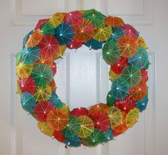 Drink Umbrella Wreath