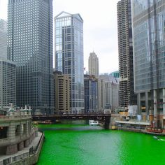 Chicago dying of the river, St Patty's Day wish i was there!