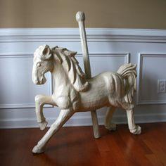 Paper Mache Carousel Horse Unique Home Decor Art by RhapsodyAttic